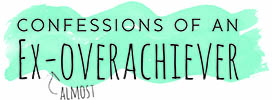 Confessions of an Almost Ex-overachiever Mobile Logo
